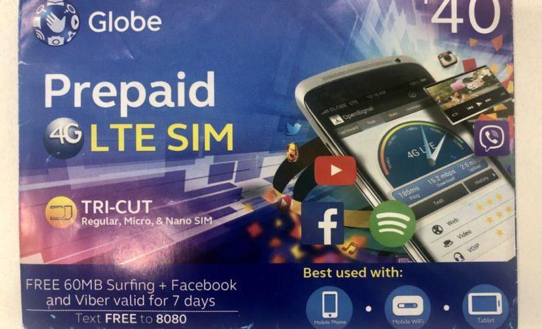 Globe LTE SIMカード