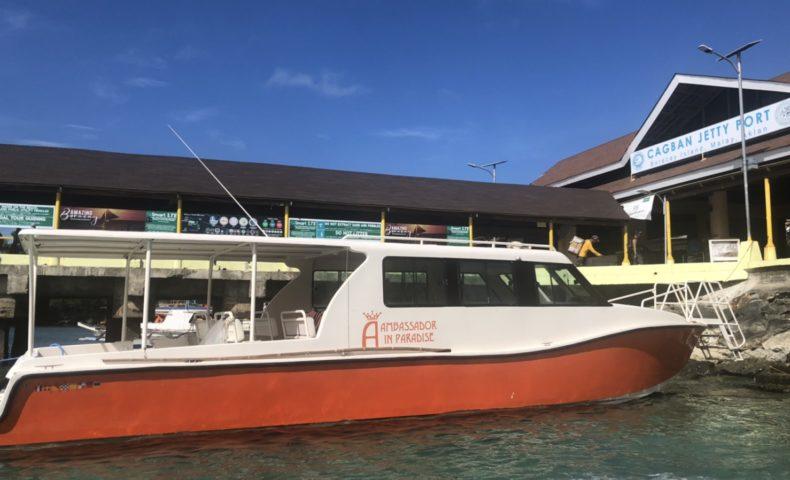 ボラカイ島のボート乗り場(CAGBAN JETTY PORTに到着