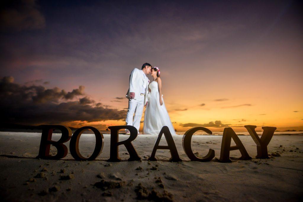 12月14日(土)お客様ウェディングフォト ボラカイ島の美しいサンセット・・・