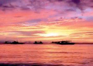 ボラカイ島の美しすぎるサンセット