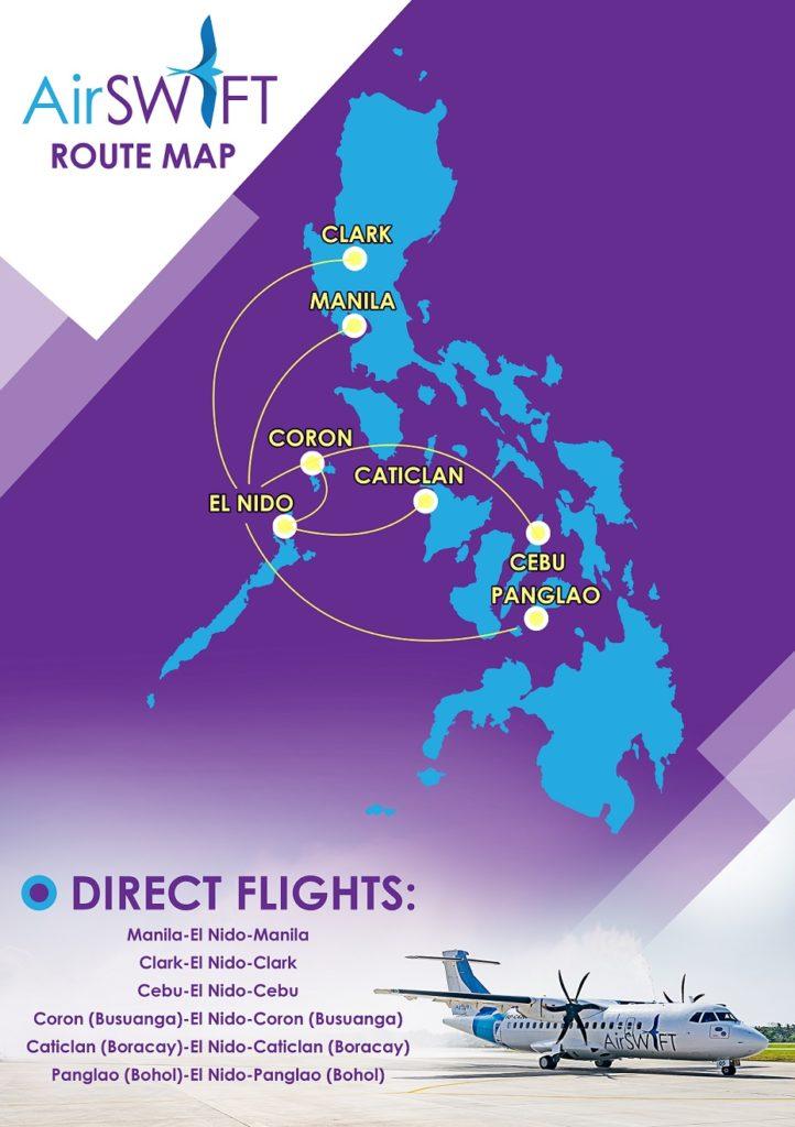 エアスイフト航空ルートマップ